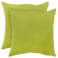 Color up with lime green pillows!