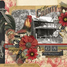 Madison County Collection Biggie digital scrapbooking kit, by Brandy Murry: Scrap Girls