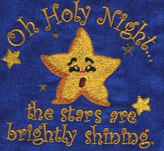 Threadsketches' set Chance of Snow - Christmas machine embroidery design, Oh Holy Night