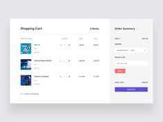 Shopping cart I've been working on! I would love to hear your thoughts/feedback :) Ecommerce Web Design, Web Ui Design, Dashboard Design, Page Design, Shoping Cart, Flow Chart Design, Ui Design Mobile, Portal Design, Website Design Layout