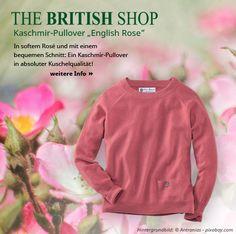 """Unser Produkt der Woche ist der kuschelige Kaschmir-Pullover in der Farbe """"English Rose"""". #thebritishshop #verybritish #diefeineenglischeart #kuschelpullover #kaschmir"""