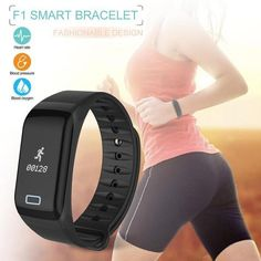 Wireless Bluetooth Smart Bracelet With Heart Rate Tracker Pedometer Smart Bracelet, Bracelet Watch, Calorie Counter, Heart Rate, Blood Pressure, Monitor, Bluetooth, Watches, Bracelets