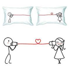I love you pillow cases. Being in a long-distance relationship, I love these