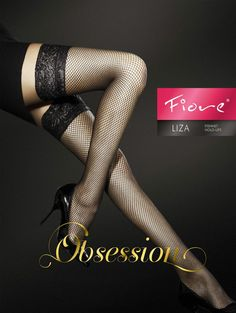 a04feabaf3049 FiORE LIZA HOLD UPS FISHNET STOCKINGS OBSESSION BLACK 20 S/M/L Halte Durch