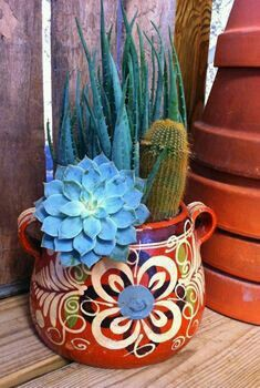 A cactus is a superb means to bring in a all-natural element to your house and workplace. The flowers of several succulents and cactus are clearly, their crowning glory. Cactus can be cute decor ideas for your room. Cacti And Succulents, Planting Succulents, Planting Flowers, Mexican Garden, Mexican Art, Mexican Style Decor, Dream Garden, Garden Art, Garden Design