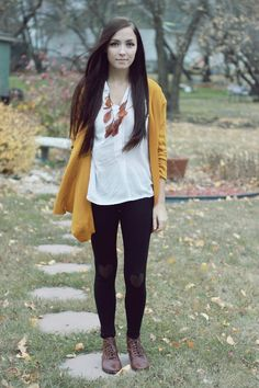 mustard. and loving the hearts on the leggings