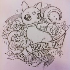 I don't like Sailor Moon,so sadly this adorable cat won't be allowed to be imprinted on my body.