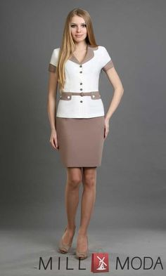 Office Uniform For Women, Tan Pantyhose, Lovely Dresses, Dress Skirt, Skirts, Style, Fashion, Boleros, Dama Dresses