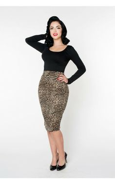 Pinup Girl Clothing- Long Sleeve Scoop Neck Top in Black | Pinup Girl Clothing