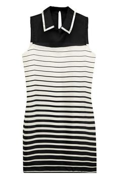 ROMWE | Black and White Striped Dress, The Latest Street Fashion
