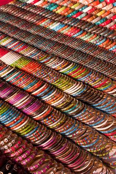 A million bangles - At the Anjuna market in Goa - India | Photo by Stephane…