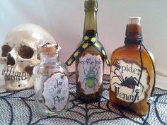 SPIDER Venom BEETLE Juice and Jar of FLIES by beyondthepoisonapple, $25.95