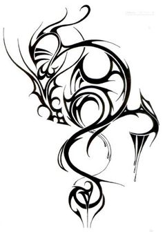 The gallery for --> Black Dragon Tattoo Art Tribal Dragon Tattoos, Chinese Dragon Tattoos, Tattoos Skull, Wolf Tattoos, Star Tattoos, Celtic Tattoos, Body Art Tattoos, Tattoo Drawings, Sleeve Tattoos