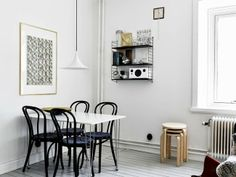 Scandinavian Home Decor Ideas Design and Scandinavian design lovers should appreciate the renovation of this . White Apartment, Scandinavian Apartment, Scandinavian Home, Black And White Living Room, Black White, Black Wood, Monochrome Interior, Minimalist Interior, Patio Interior