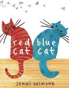 Red Cat, Blue Cat by Jenni Desmond.