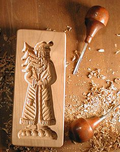 Hand carved GINGERBREAD COOKIE MOLDS for creating holiday edible-art picture cookies