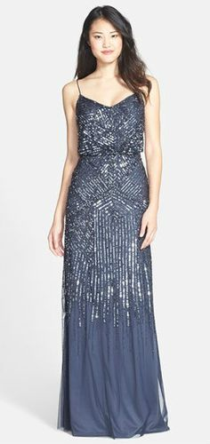 Midnight blue sequin gown