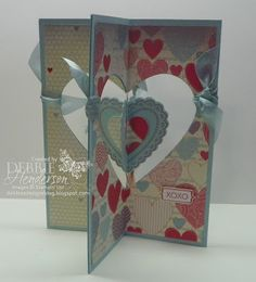 Four Folds card using Stampin' Up! products. Directions included. By Debbie Henderson, Debbie's Designs.