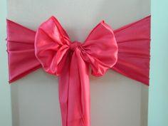 Fuchsia Pink Satin  www.blueorchid-events.com