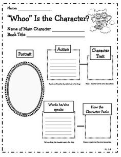 Owl Themed Common Core Reading Literature Graphic Organizers $