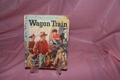 Vintage-1958-Little-Golden-Book-Wagon-Train