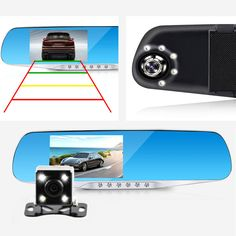 $29.99 (Buy here-> http://ali.pub/165zpk) Jansite Night Vision Car Dvr detector Camera Blue Review Mirror DVR Digital Video Recorder Auto Camcorder Dash Cam FHD 1080P