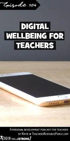 Technology is a fantastic tool that enhances our lives in so many ways, however, sometimes we need to make sure we are managing it appropriately and creating healthy boundaries so that we can sleep better and generally improve our wellbeing as teachers. Time Management Tips, Stress Management, Wellness Tips, Health And Wellness, School Direct, Health Teacher, New Teachers, Classroom Activities, Stress Relief