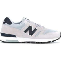 New Balance 565 sneakers ($89) ❤ liked on Polyvore featuring men's fashion, men's shoes, men's sneakers, grey, new balance mens sneakers, mens leather sneakers, new balance mens shoes, mens leather shoes and mens gray dress shoes