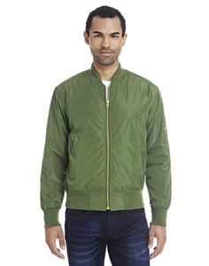 Threadfast Unisex Bomber Jacket will add versatility and style to anyone's wardrobe. Unisex Fashion for Fall.