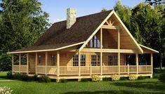 Carson - Log Home / Cabin Plans