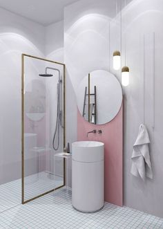 Luxury Bathroom Master Baths Paint Colors is definitely important for your home. Whether you pick the Luxury Bathroom Master Baths Towel Storage or Bathroom Ideas Master Home Decor, you will create the best Dream Master Bathroom Luxury for your own life. Interiores Art Deco, Interiores Design, Luxury Master Bathrooms, Modern Bathroom, Minimalist Bathroom, Small Bathrooms, Master Baths, Dream Bathrooms, Master Bedrooms