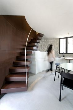 A new life for a little tower pr.aledolci&co ©martina mambrin  #architecture #interiors #photography #gardalake #kitchen #stairs #corten