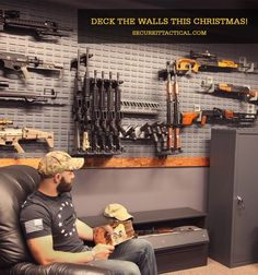 Is your armory room ready for the holidays? Let SecureIt help you get decked out with modern firearm storage and displays! Hidden Gun Storage, Ammo Storage, Weapon Storage, Airsoft, Gun Safe Room, Gun Closet, Reloading Room, Gun Vault, Ar Build