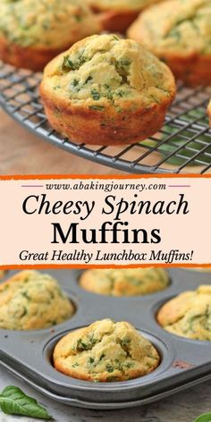 Cheddar and Spinach Muffins Cheddar and Spinach Muffins Valerie Mayo Food These Cheddar Cheese and Spinach Muffins are the perfect healthy lunchbox recipe nbsp hellip Recipes for toddlers Healthy Lunchbox Snacks, Veggie Recipes Healthy, Spinach Recipes, Savory Snacks, Vegetarian Recipes, Cheese Recipes, Healthy Savoury Muffins, Healthy Breakfast Muffins, Healthy Muffins For Toddlers