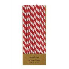 Χάρτινα Καλαμάκια Ριγέ Κόκκινο Λευκό - ΚΩΔ:45-0980-JP