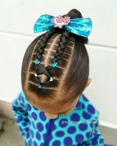 Lil Girl Hairstyles, Black Kids Hairstyles, Natural Hairstyles For Kids, Baddie Hairstyles, Down Hairstyles, Natural Hair Styles, Long Hair Styles, Girl Hair Dos, Baby Girl Hair
