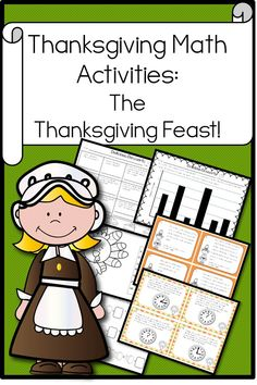 Thanksgiving Math Activities! *Bar Graph *Multiplication *Elapsed Time * Word Problems!