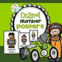 Ordinal Posters - great for reading, writing and sorting. They come in three sizes