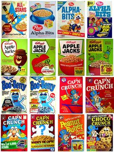 Cereal, Kellogs had these in cute little individual boxes lined with wax paper