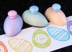 Personalized Easter Treat Basket Filler Ukranian Egg Stamp Childrens Easter Egg Personalized Stamp for Kids. $10.00, via Etsy.