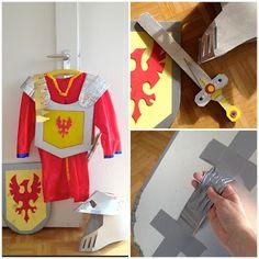 kinder faschingskostüm selber machen junge ritter schwert schild | kinder kostüme | knight