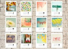 2013 Calendar, Photo Calendar, 4x6 calendar, desk calendar, wall calendar, customizeable. $18.00, via Etsy.