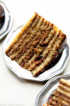 Smith Island cake is the official dessert of Maryland. This surprisingly simple cake features 9 delicious yellow cake layers and chocolate icing layers. Moist Yellow Cakes, Moist Cakes, Hot Fudge, Food Cakes, Cupcake Cakes, Cupcakes, Smith Island Cake, Chocolate Fudge Icing, Checkerboard Cake