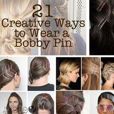 21 Creative Ways to Wear a Bobby Pin #howdoesshe #bobbypins howdoesshe.com