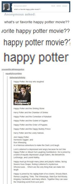 Happy Potter.....SO. JUST. Humanity is good.