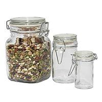 Wire Bale Air-Seal Glass Jars:  Cheapest place to buy glass storage containers for all my bulk food buying lately!