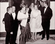 royalwatcher: gracefilm: Frank Sinatra stands with Prince Rainier and Princess Grace of Monaco and Princess Sofia and Prince Juan Carlos of Spain, following the singer's performance at the Sporting Club of Monaco on June 10, 1962. Now Queen Sofia and King Juan Carlos. This was on their honeymoon.