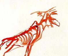 Joseph  Beuys  Horse1957.  Watercolor. 30,4 x 41,2cm.