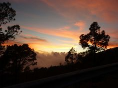 Sunset teide tenerife beautiful ♡