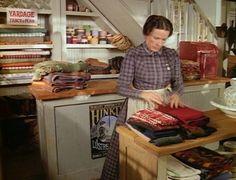 Mrs. Oleson inside Oleson's mercantile